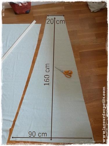 Fabrication d 39 un tipi pour enfant la cour des petits - Comment faire un tipi ...