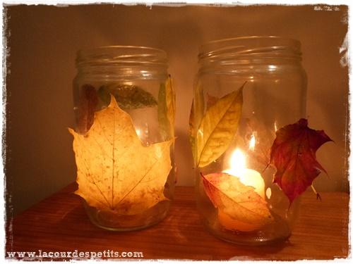 bricolage automne lanterne