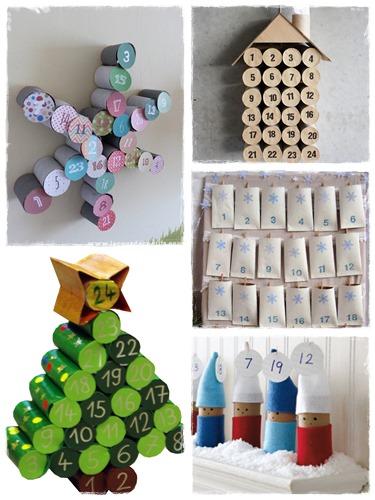 60 bricolages avec des rouleaux de papier toilette la - Calendrier avent papier toilette ...