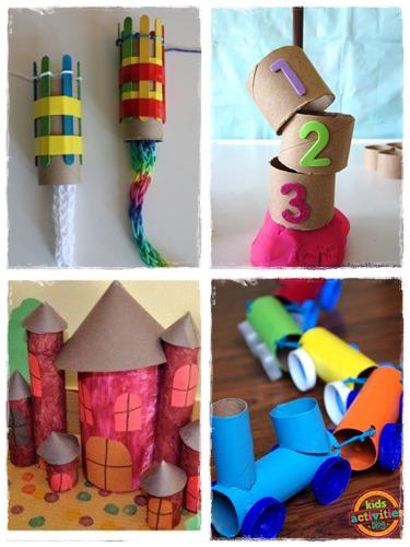 60 bricolages avec des rouleaux de papier toilette la - Idee deco avec rouleau papier toilette ...