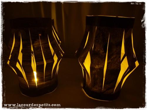 lanterne papier lumineuse
