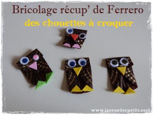 bricolage papier chocolat