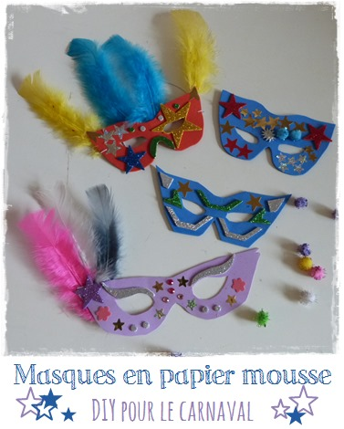 masque papier mousse