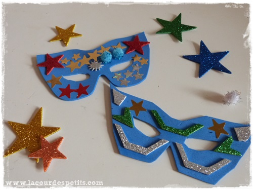 Häufig Fabriquer un masque de carnaval en papier mousse + gabarits |La  WW04