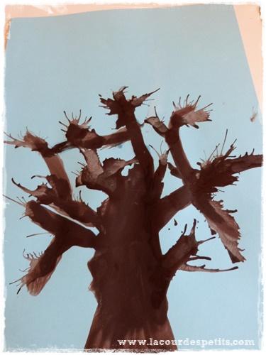 arbre peinture soufflee