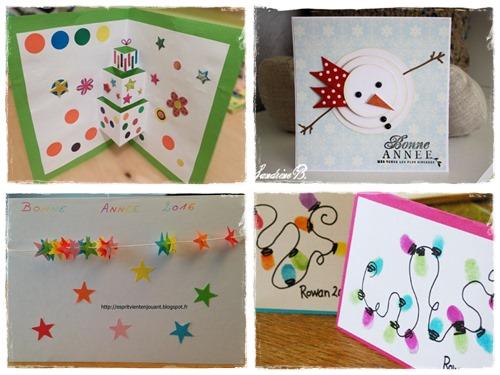 10 cartes de voeux fabriquer avec les enfants la cour des petits. Black Bedroom Furniture Sets. Home Design Ideas