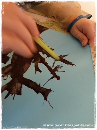 peinture paille enfant