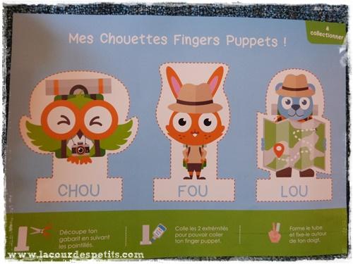 Chouette box puppets