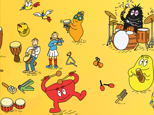 barbapapa instruments musique decouverte