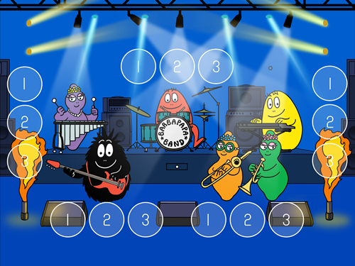 barbapapa instruments musique jeu