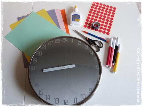 horloge enfant DIY