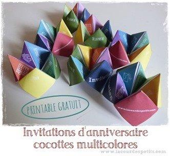 invitation anniversaire printable