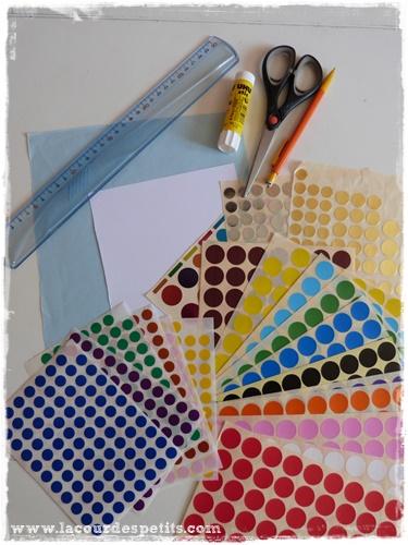 invitation couleur materiel