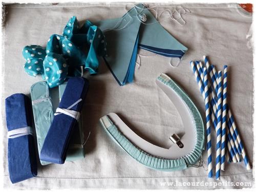 Pirouettes et confettis bleu