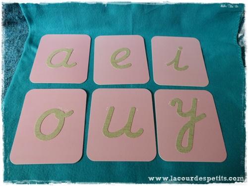 alphabet Montessori voyelles