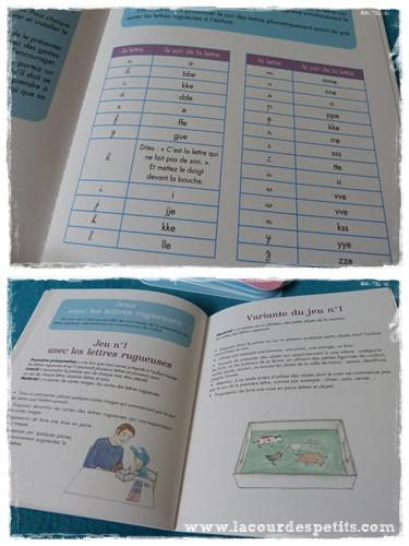 livret Montessori lettres rugueuses