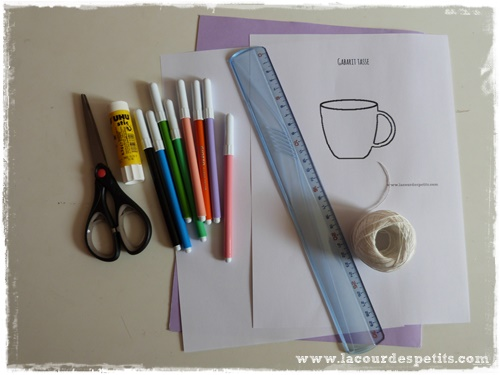 materiel carte tasse the