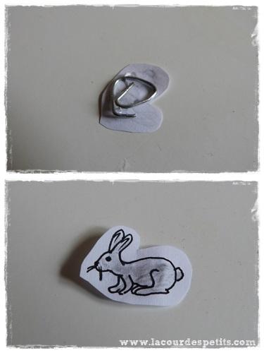 bricolage lapin aimante