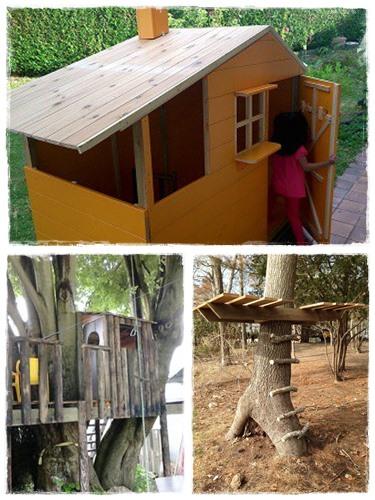 Construire une cabane pour les enfants la cour des petits - Cabane en bois pas cher castorama ...