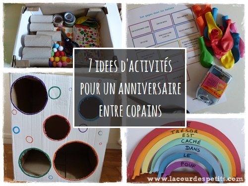 Un anniversaire tout en couleur pour ses 6 ans :La cour des petits