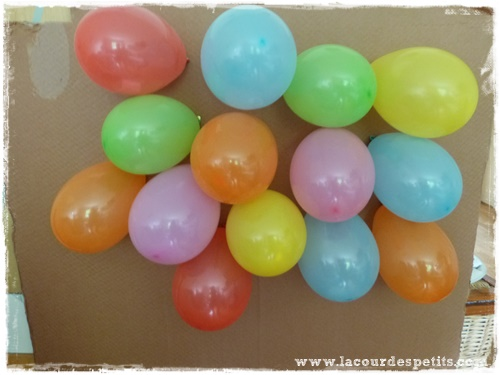 mur ballons anniversaires