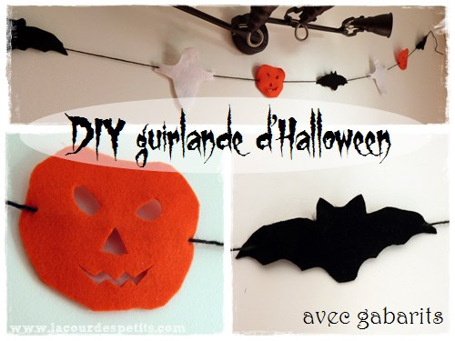 Décoration d\u0027Halloween  la guirlande faite maison