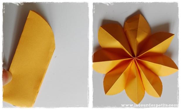 decoupage fleur papier