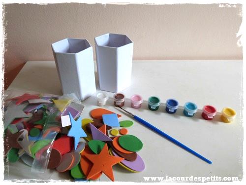 materiel pot a crayons