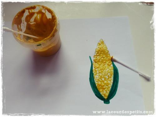 peinture automne maïs