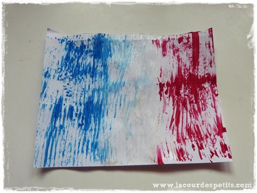 peinture drapeau france