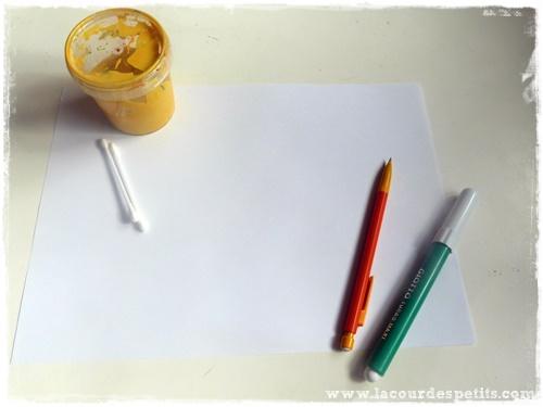 peinture maïs materiel
