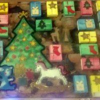 calendrier avent boites allumettes bois