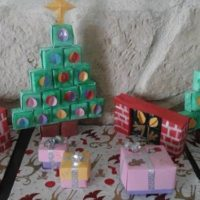 calendrier avent boites collees sapin