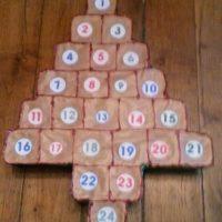 calendrier avent yaourt sapin