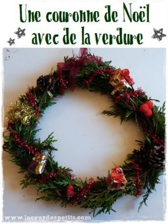 Fabriquer une couronne de Noël avec de vraies branches de sapin. Cliquez sur le lien pour voir le tuto tout simple !