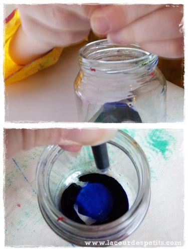 peinture encre sel cartouches