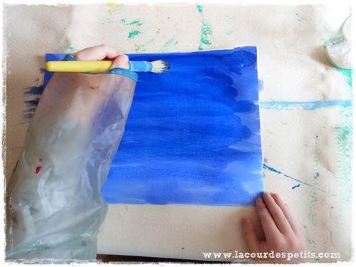 peinture encre maternelle
