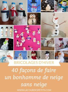 40 bricolages bonhomme de neige