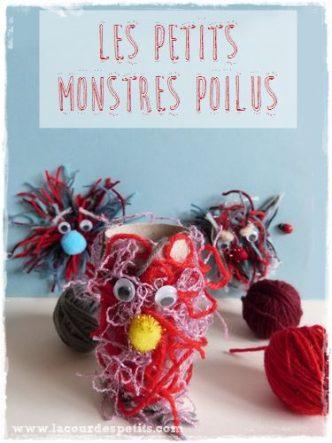 Bricolage en laine pour les enfants pour apprivoiser les monstres