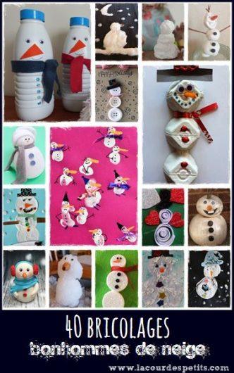 Des bonhommes de neige a fabriquer pour tous les ages et tous les gouts. Decouvrez la selection et les tutos en cliquant sur le lien.