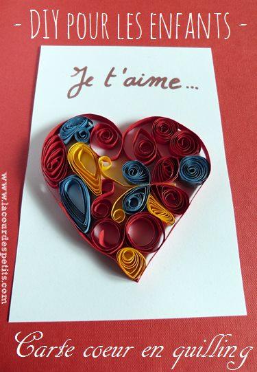 carte coeur quilling