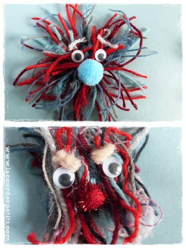 monstres laine sourcil
