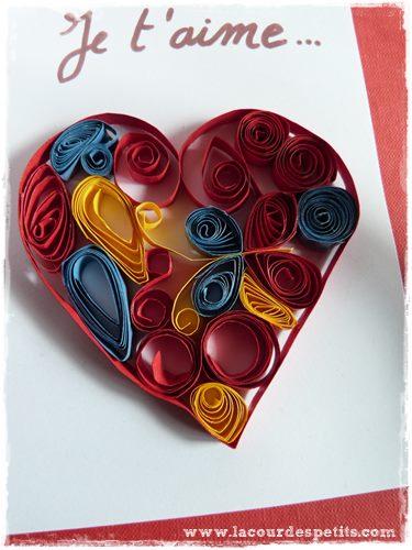 quilling st valentin