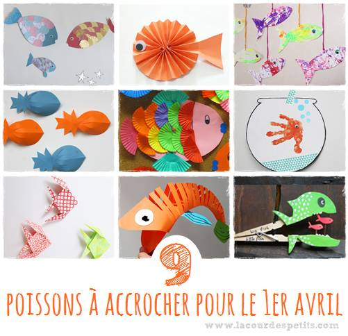activit s poisson d 39 avril 9 id es de poissons fabriquer la cour des petits. Black Bedroom Furniture Sets. Home Design Ideas