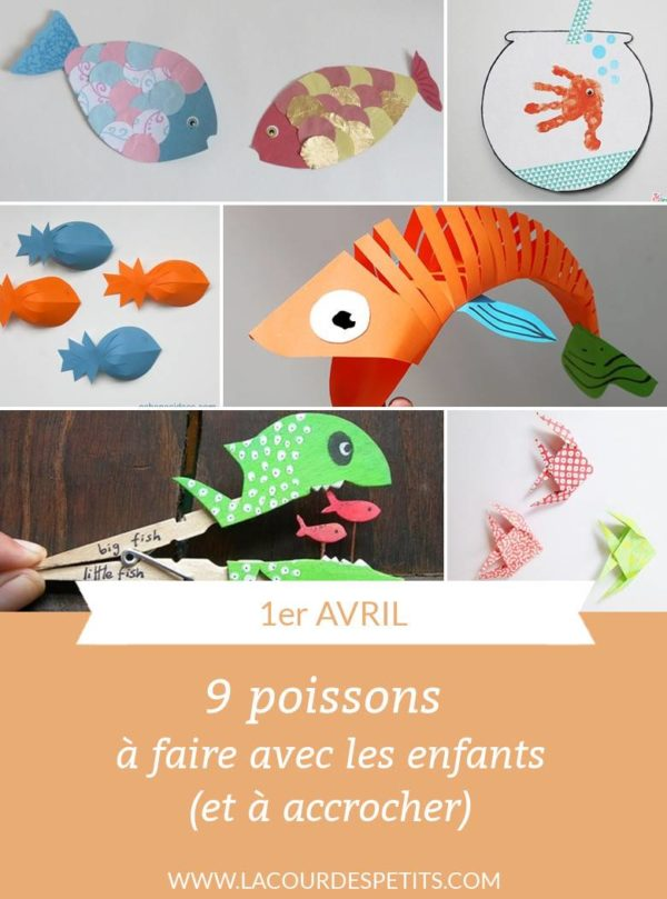 9 bricolages poisson avril
