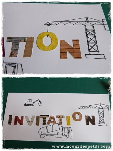 collage lettres invitation