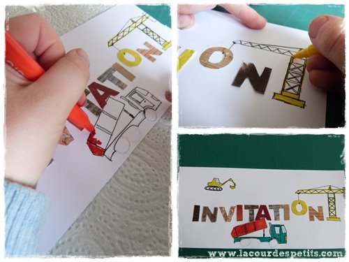 coloriage invitation chantier