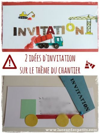 diy invitation chantier