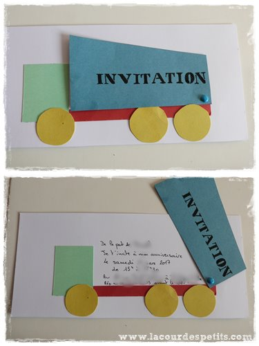 invitation camion chantier