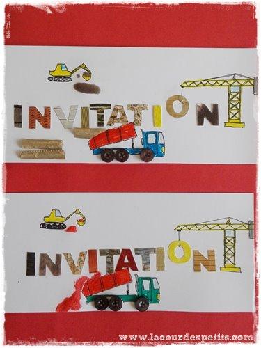 invitation chantier a faire avec les enfants